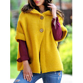 Women Casual Loose Knitted Hooded Cardigans