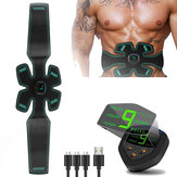 KALOAD Electric Abdominal Muscle Trainer USB Rechargeable Body Beauty Stimulator