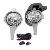 Pair Car Front Bumper Fog Lights Lamps with Bulb Wiring Harness For Toyota Hilux 2005-2008
