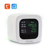 WiFi inteligente PM2.5 e temperatura e umidade Sensor Detector ambiental Monitor da qualidade do ar (Tuya Smart Life APP)