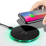 Bakeey 10W LED Light Fast Charging Wireless Charger For iPhone 8 Plus XS 11Pro Huawei P30 Mate 30 5G 9Pro S10+ Note 10 5G