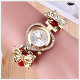 Deffrun Love Heart Decoratief dames armbandhorloge