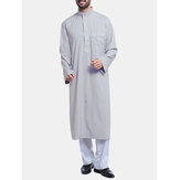 INCERUN Mens Middle East Arabian Robe Tops Half-open Kaftan