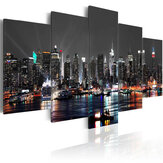 5PCS Huge New York Night Canvas Print Painting Paintings Pictures Art Wall Home Decorations