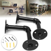 KING DO WAY 2PCS Pipe  Brackets Industrial  Shelf Bracket for Book
