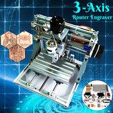 1610 DIY Mini 3-Achsen CNC Router Graveur Laser GraviermaschinePCB PVC Fräsen Holzschnitzerei Maschine