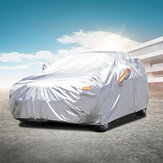 Audew Five Layers Waterproof All Weather Car Cover Rain Sun Uv Dust Protection For Automobiles Indoor Outdoor Fit Full Size Sedan and SUV
