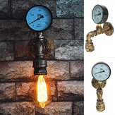 Vintage Industrial Water Pipe Gauge Steampunk Wall Lamp Sconce Light Fixtures