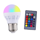 3W E27 RGB+White LED Globe Light Bulb + Remote Control for Indoor Home Bedroom Decor