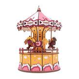 Música de Montagem 3D Woodcraft Caixa Series Kit Jigsaw Puzzle Decoration Toy Model for Kids Gift