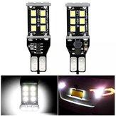 2PCS T15 W16W Coche LED Bombilla de luces de marcha atrás de respaldo CANBUS sin errores 7.2W 1200LM Blanco