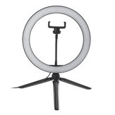 10 Inch Dimmable LED Selfie Video Ring Light with Tripod Stand Phone Holder for Youtube Tik Tok Live Streaming Makeup