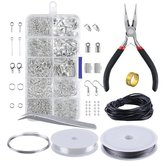 DIY Jewelry Making Starter Tools Kit Bracelet Necklace Findings Jump Ring Supplies