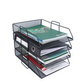 Single layer stackable file rack data rack office equipment Desktop Organizer