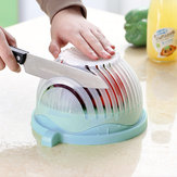 DIY Creative Cut Salad Bowl Fruit Salad Cutter Bowl Cut Vegetables Fruit Salad Artifact