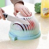 DIY Criativo Cortar Salada De Frutas Salada De Frutas Cortador Tigela Cortar Legumes Salada De Frutas Artefato