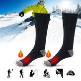 1 Çift Şarj Edilebilir Elektrikli Isıtmalı Çorap Bisiklet Kayak Kış Sıcaklığı Ayaklar Ayak Çorap