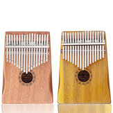 GUISTAR 17 Keys Mahogany Acacia Wood Kalimba Thumb Finger Piano with Bag Set