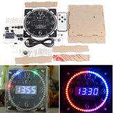 Geekcreit®フルカラーRGB大画面多機能電子DIY時計キットライトコントロールデジタルチューブディスプレイモジュールMCULED時計