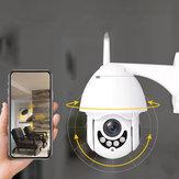 Bakeey 1080P HD Smart Wifi Speed Dome fotografica Visione notturna 360 gradi Auto Tracking Zoom 5x Zoom IP66 Monitor CCTV impermeabile per sorveglianza esterna