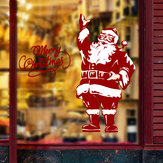 Miico SK9248 Christmas Sticker Santa Claus Pattern Wall Stickers Removable For Room Decoration
