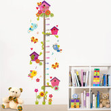 Miico FX1020L Cartoon Tree Branch Height Stickers Children's Room Wall Sticker Height Measurement Stickers