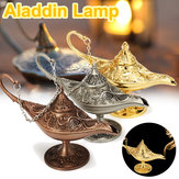 Metal Carved Legend Lamp Aladdin Magic Genie Light Wish Pot Fancy Dress Decorations