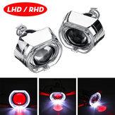 2.5 Inch Angel & Devil Demon Eye LED Headlights HID Bi-Xenon Projector Lens Kit H1 LHD/RHD
