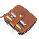 Men Small Casual Kartenhalter Wallet Zipper Coin Bag