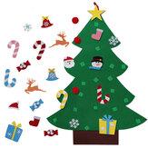 DIYvoeldekerstboommetglitterornamenten vrij plakken muur opknoping kerstbomen kerstversiering voelde Nieuwjaar cadeau DIY kerstboom kit