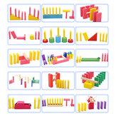 Giocattoli educativi per bambini Montessori Puzzle in legno Domino Rainbow Blocks creativi