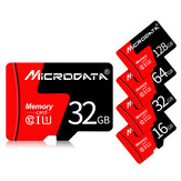 MicroData 8GB 16GB 32GB 64GB 128GB Class 10 High Speed Max 80Mb/s TF Memory Card With Card Adapter For Mobile Phone Tablet GPS Camera