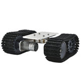 D-39 DIY Smart Aluminous RC Robot Car Tank Chassis Base With DC 12V 1:46 Motor