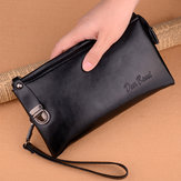 Bakeey Casual Large Capacity PU Leather Men Long Wallets Clutch Hasp Phone Credit Card Wallet