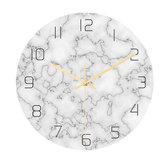 Loskii CC014 Twórczy marmurowy wzór Zegar ścienny Wyciszony zegar ścienny Kwarcowy zegar ścienny do dekoracji wnętrz biurowych