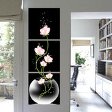 3Pcs Modern Abstract Flower Art Canvas Print Pinturas Imagem Home Wall Decor