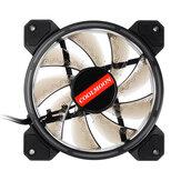 12 cm 3 pines 1 ventilador 12 modos ajustable Colorful RGB LED computadora silenciosa Caso ventilador de enfriamiento