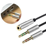 Bakeey 3.5mm Audio Adapter 32cm 2 Stecker auf 1 Buchse Audio Kabel Splitter Kabel Adapter
