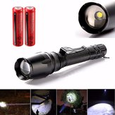 1400LM Elfeland Tactical Zoomable 5Mode T6 LED Torch Flashlight +18650 Battery