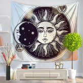 Indian Hippie Psychedelic Sun Moon Mandala Tapestry Art Wall Hanging Bedspread Decor