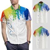 Camisas casuales impresas hawaianas para hombre Summer Short Sleeve Playa Party Stag Top Tee