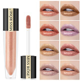 Miss Rose Shimmer Lip Gloss Pearly Metallic Lip Stick