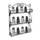 Suporte de jarra de rack de especiarias de garrafa de cozinha de 3 camadas Suporte de parede Organizador de prateleira de suporte