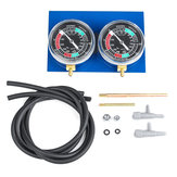 2pcs Motorcycle Carb Carburetor Fuel Vacuum Balancer Cylinder Gauge Synchronizer Diagnostic Tool