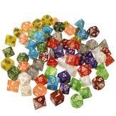 70шт акриловые многогранные кубики ролевая игра гаджет для игры в кости драконов D20 D12 D10 D8 D6 D4 игры