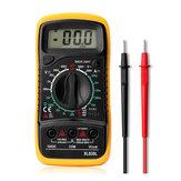 Dijital Multimetre AC DC Akım Gerilim Direnç Ölçer Voltmetre Ampermetre ile Mavi Aydınlatmalı LCD