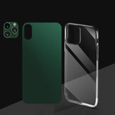 Bakeey 3 in 1 Converted Change X / XS na 11 Pro Second Change Anti-scratch Phone Camera Lens Protector + Rear Matte flim + Transparent TPU Protective Case for iPhone X/XS