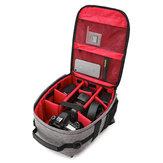 My Dear No 180513 Câmera à prova de choque resistente à água Bolsa Shoulder Carry Backpack de viagem para Canon para Nikon DSLR Camera Tripod Lens Flash