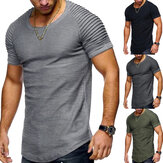 Heren Oversized Casual T-shirts Korte mouwen Muscle Sports Gym T-shirts Blouses