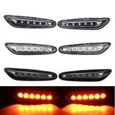 Indicatori di direzione laterali a LED Ripetitori Lampade Coppia gialla per BMW E46 E60 E81 E83 E87 E90 E91